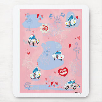 Herbie the Love Bug I Love Herbie poster Disney Mouse Pad