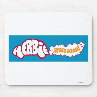 """Herbie the Love Bug """"Rides Again"""" Disney Mouse Pad"""