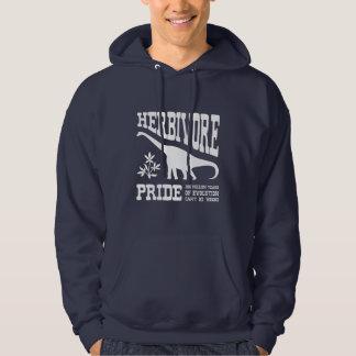 Herbivore Dinosaur Funny Vegetarian Pride Hoodie