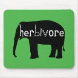 Herbivore - Elephant - Green Mousepads