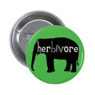 Herbivore - Elephant - Green Pinback Button