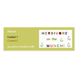 Herbivore on the Munch Double-Sided Mini Business Cards (Pack Of 20)