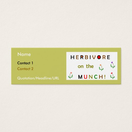 Herbivore on the Munch Mini Business Card