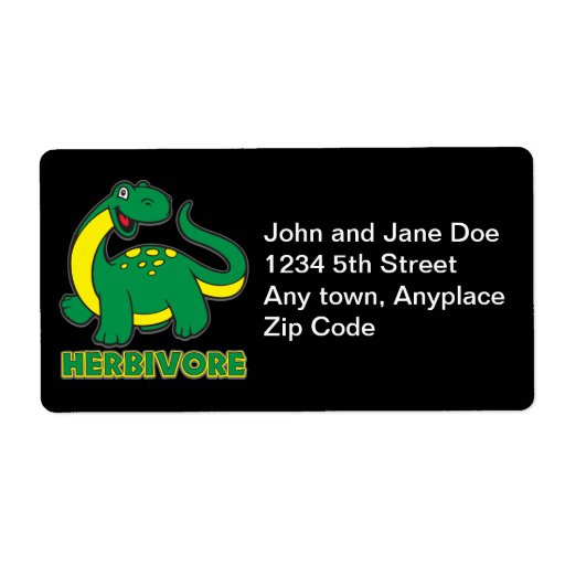 Herbivore Personalized Shipping Labels