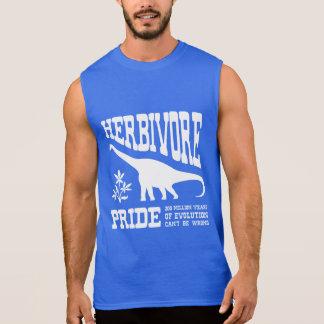 Herbivore Pride Vegetarian Dinosaur Silhouette Sleeveless Tees