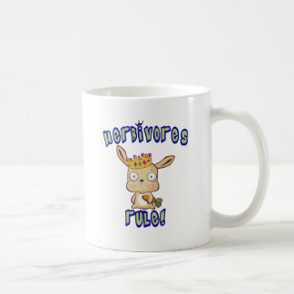 Herbivores Rule Classic White Coffee Mug