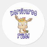 Herbivores Rule Round Stickers