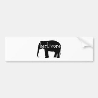 Herbívoro - elefante etiqueta de parachoque