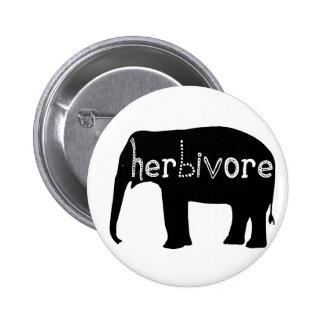 Herbívoro - elefante pin redondo de 2 pulgadas