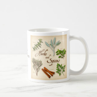 Herbs and Spices, Rosemary, Sage, Thyme, Cinnamon Classic White Coffee Mug