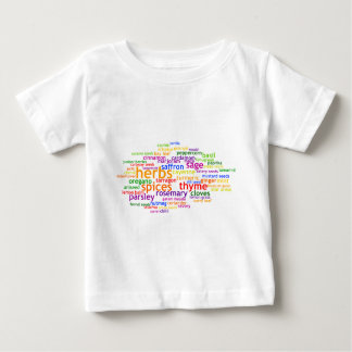 Herbs and Spices Wordle Baby T-Shirt