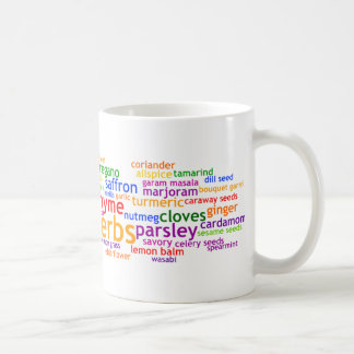 Herbs and Spices Wordle Classic White Coffee Mug