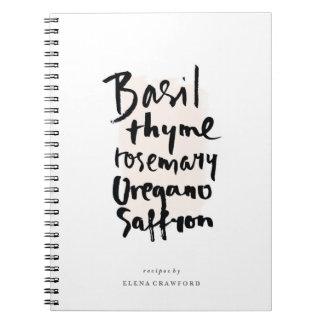 Herbs Brush Typography Notebook