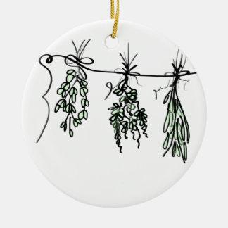 Herbs Ceramic Ornament