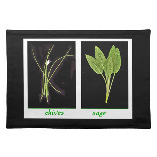 Herbs - chives and sage placemats