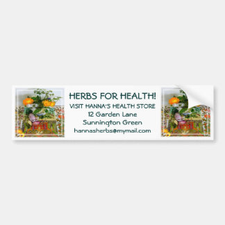 Herbs for Health Bumper Sticker