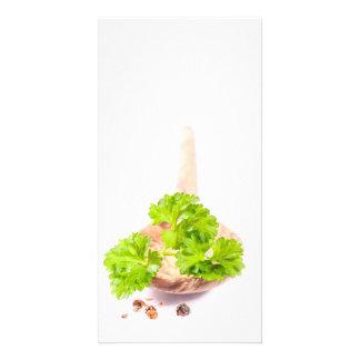 herbs photo greeting card