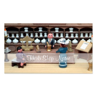Herbs shop dollhouse Double-Sided standard business cards (Pack of 100)