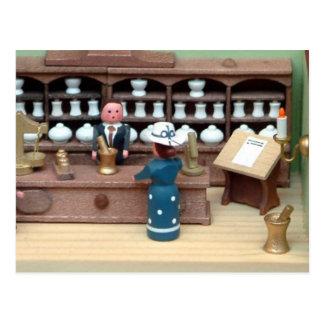Herbs shop dollhouse postcard
