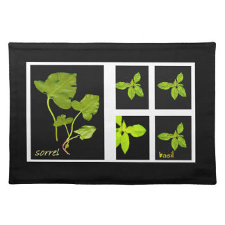 Herbs - Sorrel and Basil Placemats