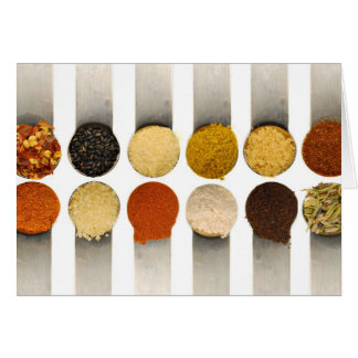 Herbs Spices & Powdered Ingredients Greeting Card