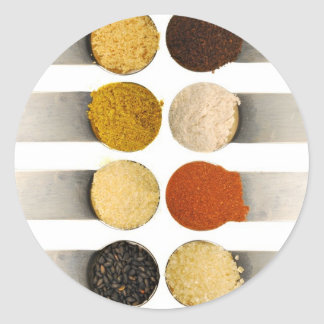 Herbs Spices & Powdered Ingredients Classic Round Sticker