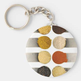 Herbs Spices & Powdered Ingredients Keychain