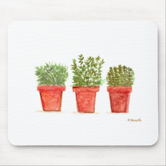 Herbs thyme rosemary mint mouse pad