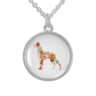Herbst-Deutsche Dogge Sterling Silver Necklace