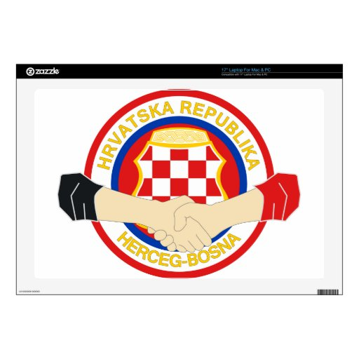 """Herceg Bosna, Rukovanje 17"""" Laptop Skin"""