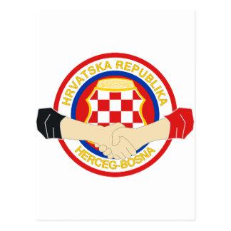 Herceg Bosna, Rukovanje Postcard