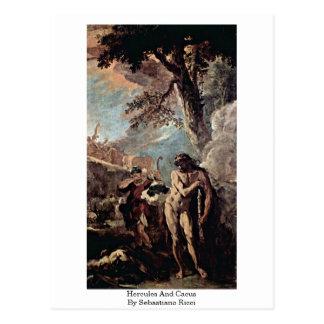 Hercules And Cacus By Sebastiano Ricci Postcard
