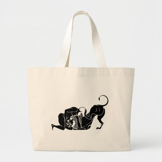 Hercules and Lion Large Tote Bag