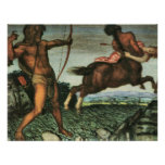 Hercules and Nessus by Franz von Stuck Poster