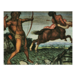 Hercules and Nessus by Franz von Stuck Print