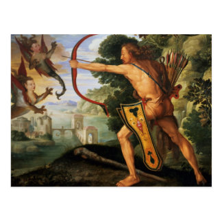 Hercules and the Stymphalian birds, 1600 Postcard