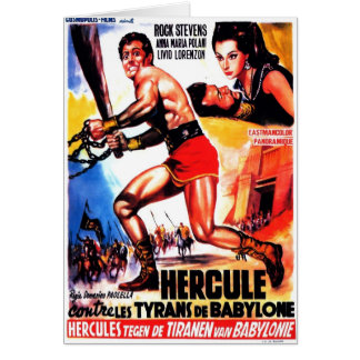 """Hercules and the Tyrants of Babylon"" Card"