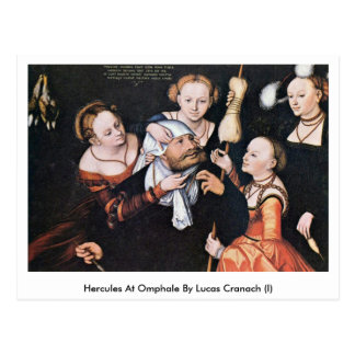 Hercules At Omphale By Lucas Cranach (I) Postcard