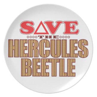Hercules Beetle Save Melamine Plate