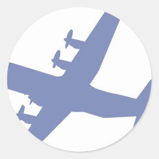 Hércules C-130 Pegatina Redonda