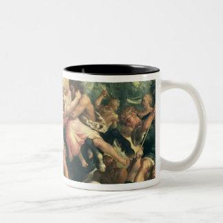 Hercules, Deianeira and the centaur Eurytion Two-Tone Coffee Mug