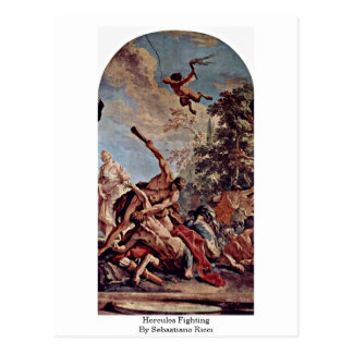 Hercules Fighting By Sebastiano Ricci Post Card