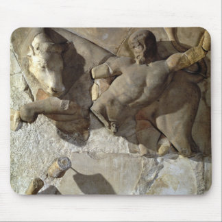 Hercules Fighting the Cretan Bull, one of a series Mouse Pad