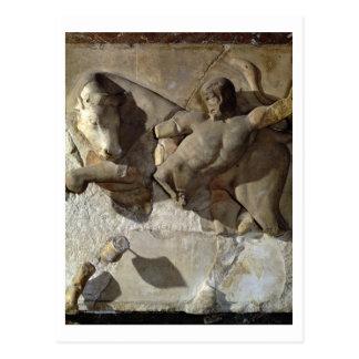 Hercules Fighting the Cretan Bull, one of a series Postcard