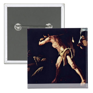 Hercules Fighting The Hydra Lernaean 2 Inch Square Button