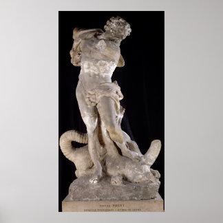 Hercules Fighting the Lernaean Hydra Poster