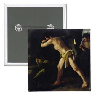 Hercules Fighting with the Lernaean Hydra 2 Inch Square Button