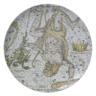 Hercules, from 'A Celestial Atlas', pub. in 1822 ( Dinner Plates