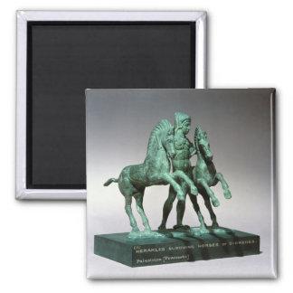 Hércules que somete los caballos de Diomedes Iman Para Frigorífico