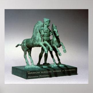 Hércules que somete los caballos de Diomedes, Impresiones